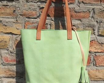 Self-sewn canvas bag / shopper