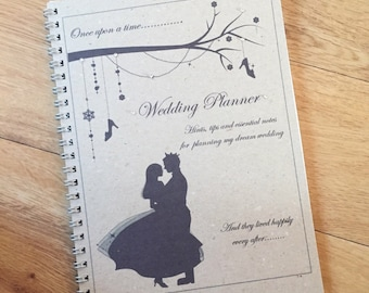 a5 wedding planner bride to be wedding notebook journal cinderella prince charming