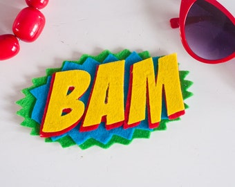 Comic book geek chic brooches