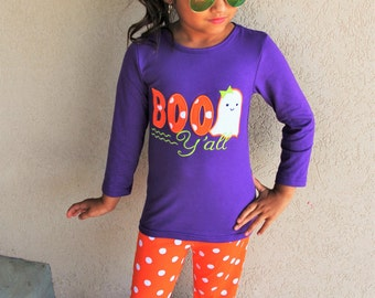 Boo Y'all Boutique outfit set - Orange and Purple
