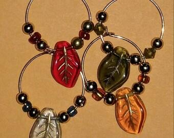 Leaf Wine Glass Charms
