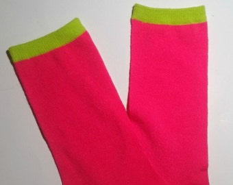 Pink and green legwarmers, baby legwarmers, baby leg warmers, legwarmers for baby, infant legwarmers, little leg warmers, baby legs