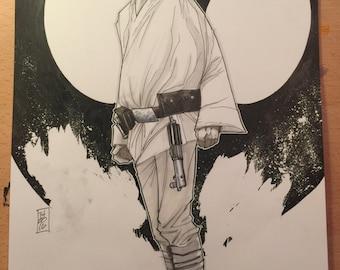 ORIGINAL ART, Luke Skywalker: A New Hope Rises by Tom Hodges