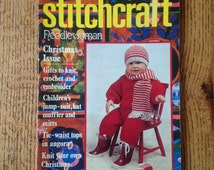 Vintage Stitchcraft Knitting and Stitching Magazine including Needlewoman December 1978 issue