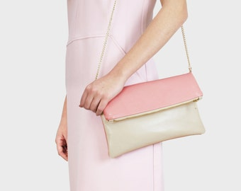 Foldover bag Finja - beige | Rosa