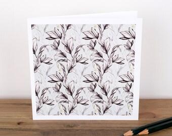 Vine Leaf Greetings Card