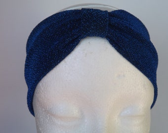 Dark Blue Shiny Headband