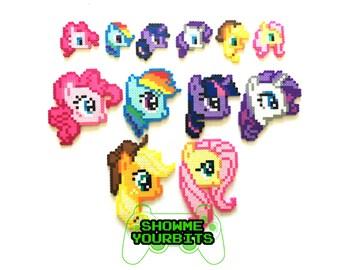 My Little Pony Perler Sprites