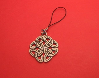 Celtic Knot Pewter Mobile Phone Charm