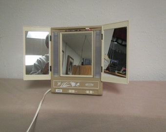 Vintage Sears Best  MAKEUP MIRROR  with Hi & Lo lighting model 8965