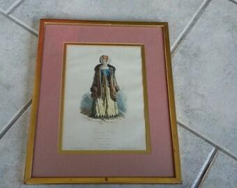 Vintage Fashion Costume Print Femme de Kalouga.Russia 1860