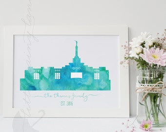 LDS Temple art - Customizable - Kona Hawaii temple - Printable