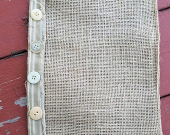 Burlap Bag // Beach Bag