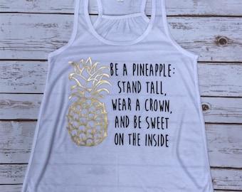 Women's White Tank Top Pineapple Inspiration Stella and Dot