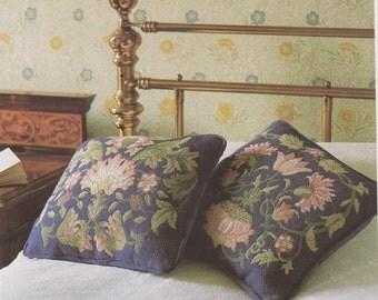 Victorian needlepoint cross stitch William Morris Lodden I pattern Printable Pdf Instant Download
