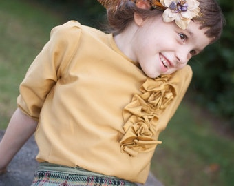 Girl Blouse, silk top, holiday clothing, special occasion, winter clothing, boutique clothing, size 2T, 3T, 4T, 5, 6, 7, 8