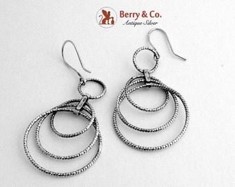 SaLe! sALe! Dangle Earrings Circle Designs Sterling Silver