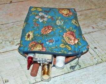 Large Makeup Case - Makeup Bag - Cosmetic Case - Makeup Pouch - Makeup Brush Bag - Travel Bag - Floral Makeup Case
