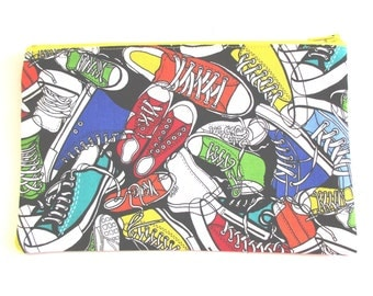 Sneakers Fabric Pencil Case // Sneakers zipper pouch // Sneaker Pencil Pouch