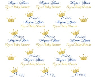 Royal Prince Baby Shower, Baby Boy Party, 8 Ft X 8 Ft Feet Large Vinyl Backdrop for Baby Shower, Family pictures