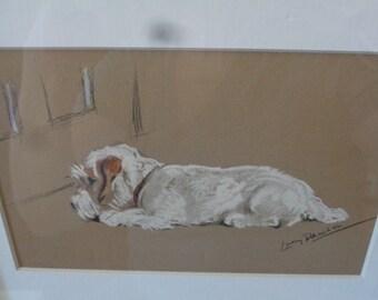 Original Dog Print, Hand-Colored, Lucy Dawson