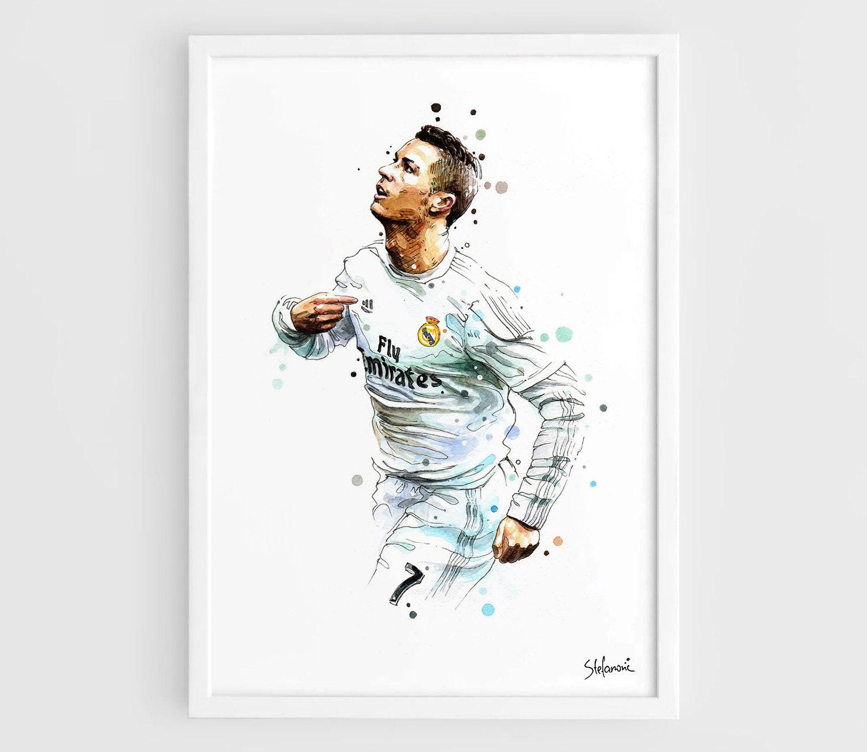 Cristiano Ronaldo Real Madrid Cr7 A3 Wall Art Print Poster