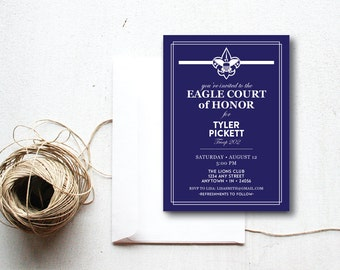 INSTANT DOWNLOAD Eagle Court of Honor invitation / Eagle Court invite / Eagle Court printable / Eagle Court Ceremony / Boy Scout invitation