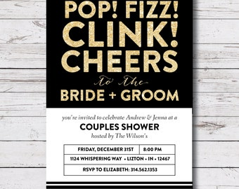 couples shower / wedding shower / his & hers shower printable invitation