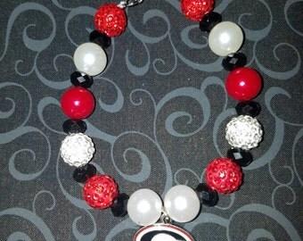 Georgia Bulldogs charm bracelet