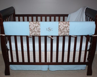 Crib Rail Covers - Reversible - 1-long side