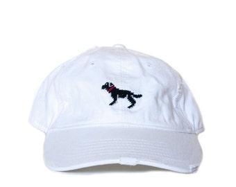 Black Lab Needlepoint Hat