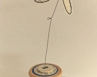 Cotton reel flower