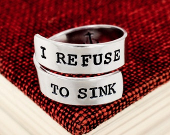 I Refuse to Sink Ring - Anchor Inside