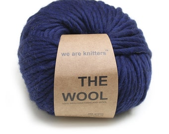 100% Peruvian wool - Navy Blue