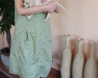 Sleeveless Linen Dress Midi Dress Extravagant Linen Dress & Nara LR016