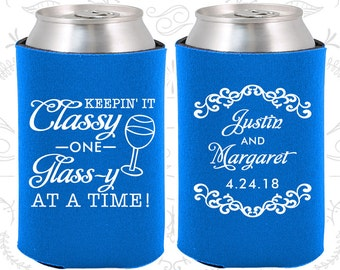 Cerulean Blue Wedding, Can Coolers, Cerulean Blue Wedding Favors, Cerulean Blue Wedding Gift, Blue Wedding Decorations (383)