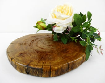 "10"" Wood Slice, Wood Slab, Wood Slice, Cake Stand, Oak Wood Slab,Centerpiece, Charger, Trivet, Wedding Decor,Oak Wood. Rustic Wood"