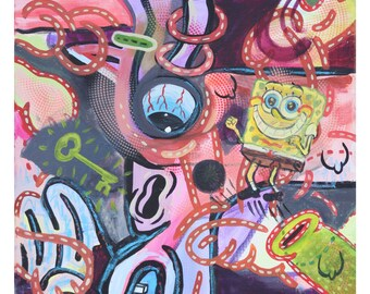 Original Art Print, Modern Art Print, Psychedelic Artwork, Pop Painting