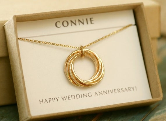 50th Wedding Anniversary Gift Ideas For Wife : gift for wife necklace, 7th anniversary gift for women, wedding ...