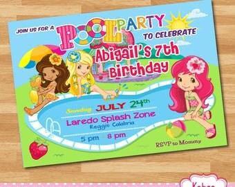 DIGITAL  Strawberry Shortcake Birthday Party invitation - PRINT YOURSELF