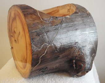 large rustic planter
