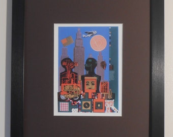 "Mounted and Framed - As is When : Wittgenstein in New York Print by Eduardo Paolozzi - 16"" x 12"""