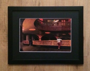 Framed and Mounted Edward Hopper - The Sheridan Theatre, 12''x 16'' frame, 1937