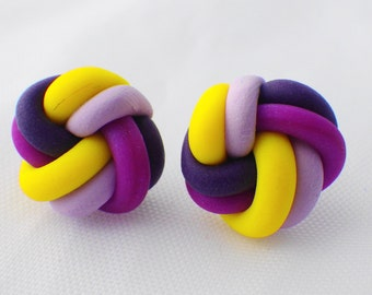 Radiant orchid love knot earrings