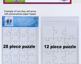 Paw Patrol party favor design your own puzzle with personalized paper top set of 10