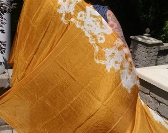 Made to order Aztec Gold Tye Dyed Silk Veil