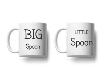 Big Spoon Little Spoon Set of Mugs