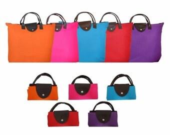 New Oxford Lightweight Foldable Shopping Travel Bag Tote Handbag for Women