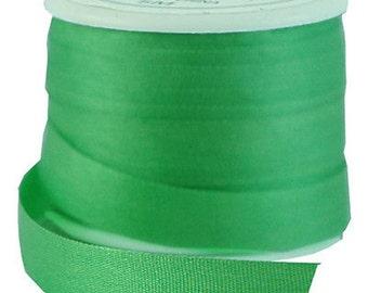 11 Yds (10 M) Embroidery Silk Ribbon 100% Silk 7mm - Kiwi Green - By Threadart