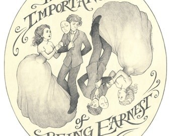 The Importance of Being Earnest Oscar Wilde art print 8.5x11 or 11x17 inches